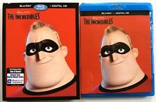 DISNEY PIXAR THE INCREDIBLES BLU RAY 2 DISC SET + SLIPCOVER SLEEVE FREE SHIPPING