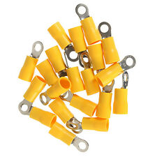 20pcs Yellow Ring Insulated Wire Connector Electrical Crimp Terminal 12-10AWG M4