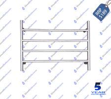 Bathroom Round Design Wall 4 Bar Towel Ladder 700 mm x 500 mm Polished Chrome