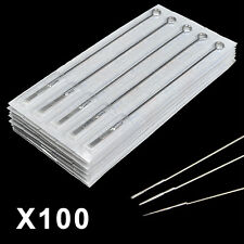 100 Pcs Pro Steriled Mixed Tattoo Steel Needles Round Liner/Shader/Magnum RL/RS