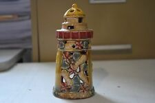 """Ceramic Lighthouse Holiday Seasons Tealight Candle Holder 5.5"""" Tall LH-57"""