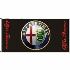 Large Alfa Romeo flag (black) 1500mm x 740mm   (of)