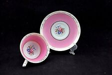 VINTAGE PARAGON CUP AND SAUCER DOUBLE WARRANT pink & gold with roses c 1933-1937