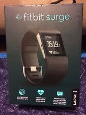 Fitbit Surge Super Watch GPS Fitness Tracking Heart Rate Monitor L - Black NIB