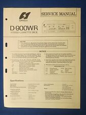 SANSUI D-900WR CASSETTE SERVICE MANUAL ORIGINAL FACTORY ISSUE THE REAL THING