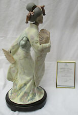 "LARGE LLADRO LIMITED EDITION PORCELAIN SCULPTURE ""JAPANESE ELEGANCE"" 16966"