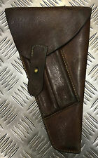 Genuine Swedish Army Brown Leather Pebbled Vintage Gun / Pistol Holster - SWEH02