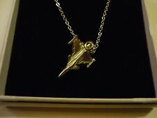 "Saab JAS 39 Gripen c78 Aeroplane On a 18"" Silver Plated Curb Chain Necklace"