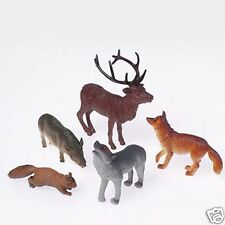 12 Woodland Forest Toy Animal Figures Kid Party Goody Loot Bag Favor Supply