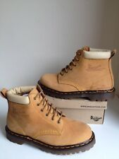 Vtg! Sz7 England Dr. Martens Air Cushion Soles Honey Leather Lace Up Boots Eu41
