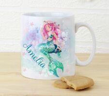 Personalised Girls Mug Mermaid Cup Mug Gift Birthday Daughter Gift Aquatic Cup