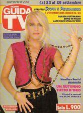 rivista NUOVA GUIDA TV ANNO 1990 NUMERO 38 HEATHER PARISI