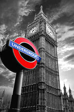 London Big ben Underground sign poster A2  SIZE