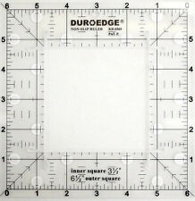 "Duroedge Non-Slip Ruler 6.5 Inch x 6.5 Inch Square Grid With 1/4"" Seam Allowance"