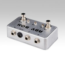 Hand made ABY Switch Box For Effects Pedal-TRUE BYPASS- Amp / guitar AB