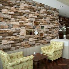 3D Slate Stone Brick Effect Wallpaper Wall Textured Vinyl wallpaper Mural Decor
