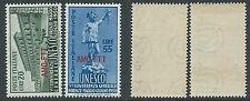 1950 TRIESTE A UNESCO GOMMA BICOLORE MNH ** - B5-5