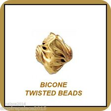 Beads Twisted  Bicone GF14kt Gold Filled (10mm) 14/20 - Hole 1.5mm