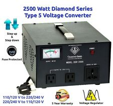 Diamond Series DSR-2500 w/ Regulator Watt Step Up/Down Voltage Converter