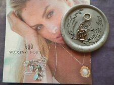WAXING POETIC Dangle Letter m  Wax Seal Sterling Silver Charm