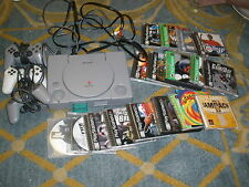 Playstation 1 Console 3 controllers 1 memory card 26 games