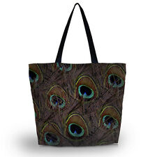 Peacock REUSABLE shopping tote bag Grocery Large Bags friendly handbag Tote