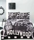 Retro Hollywood Film Vintage Quilt Doona Cover Set - Single Double Queen King