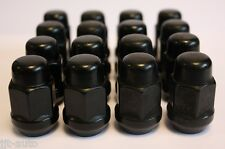 16 X M12 X 1.5 BLACK TAPERED ALLOY WHEEL NUTS FIT MITSUBISHI COLT DION EMERAUDE