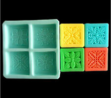 Plant Square Mould Craft Art Bakeware Tool Silicone Handmade Soap DIY Molds