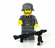 custom German WW2 wehrmacht Soldier made with real LEGO(R) MG 42