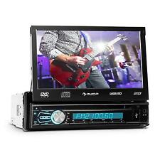 "CAR STEREO DVD CD PLAYER FLIP OUT 7"" TOUCH SCREEN BLUETOOTH USB MP3 AUX FM RADIO"