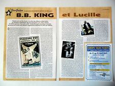 COUPURE DE PRESSE-CLIPPING : B.B.KING [2pages] 04/2003 Guitare Lucille