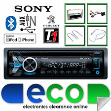 Peugeot 308 Sony Cd Mp3 Usb Bluetooth Manos Libres Radio estéreo Gris Panel Kit