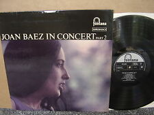 JOAN BAEZ – IN CONCERT PART 2 Orig Fontana STFL 6035 '63 UK LP US FOLK