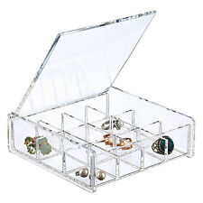 "6"" Square Clear Acrylic 12 Compartment Cosmetic Makeup Jewelry Organizer"