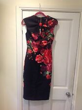 New Ted Baker Mirrie Juxtapose Rose Dress SIZE 8