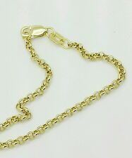 """10k Yellow Gold Rolo Anklet Chain 10"""" 2.3mm"""