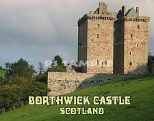 Scotland - BORTHWICK CASTLE - Souvenir Fridge Magnet