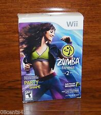 Zumba Fitness 2 w/ Fitness Belt (Nintendo Wii) Party Yourself Into Shape! *NEW*