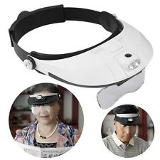 Magnifying Glass with Light LED Illuminated Head Surgical Loupe Headlamp F4