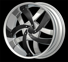 """24"""" Velocity V825 Wheels rims&Tires fit chevy&Ford 6 &5 lug Truck or SUV Deal"""