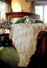 Soft Surroundings Lombardi Smocked Coverlet Queen