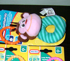 Little Tikes MONKEY Loop Rattle Baby Toy Soft Animal Face Age 0+ months