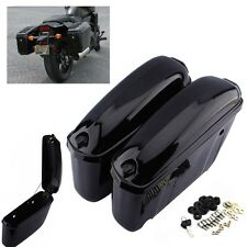 2x Motorcycle Trunk Saddlebags Saddle Bags Side Hard Case For Harley Softail -US
