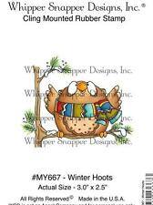 NEW WHIPPER SNAPPER cling Rubber Stamp CHRISTMAS OWL WINTER HOOTS FREE US SHIP