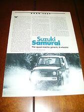 1986 SUZUKI SAMURAI - ORIGINAL ARTICLE