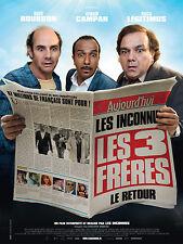 Affiche 120x160cm LES TROIS FRÈRES, LE RETOUR 2014 Bourdon Campan Légitimus NEUV