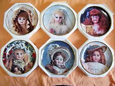 Lot of 6 Franklin Mint Doll Collector Plates With COA