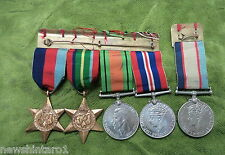 #D258.  GROUP OF  FIVE   WWII  MEDALS  T. E. WIVELL  NX163893