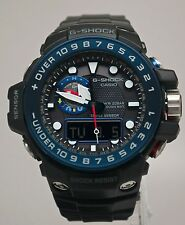 New Casio GWN1000B-1B G-Shock Black & Blue Gulfmaster Ocean Concept Men's Watch